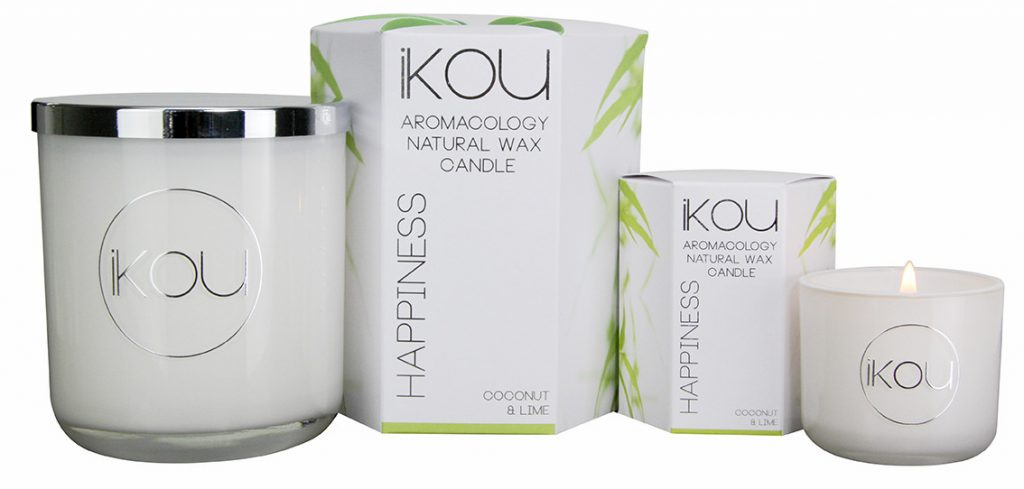 Ikou Eco-Luxury Candle Glass in Happiness, $19.95 (small) or $39.95 (large)