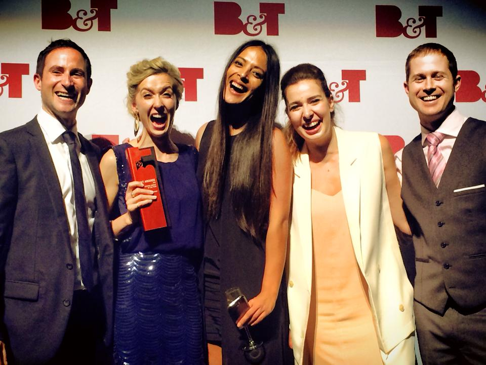 Winning Emerging Agency of the Year in 2013
