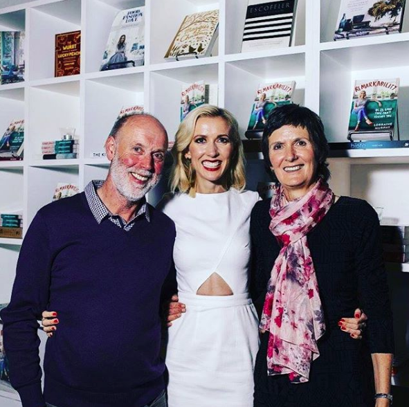 With my parents at the launch of Remarkability