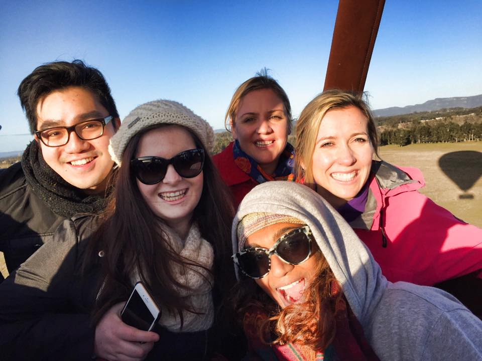 Hot air ballooning with the team in 2015