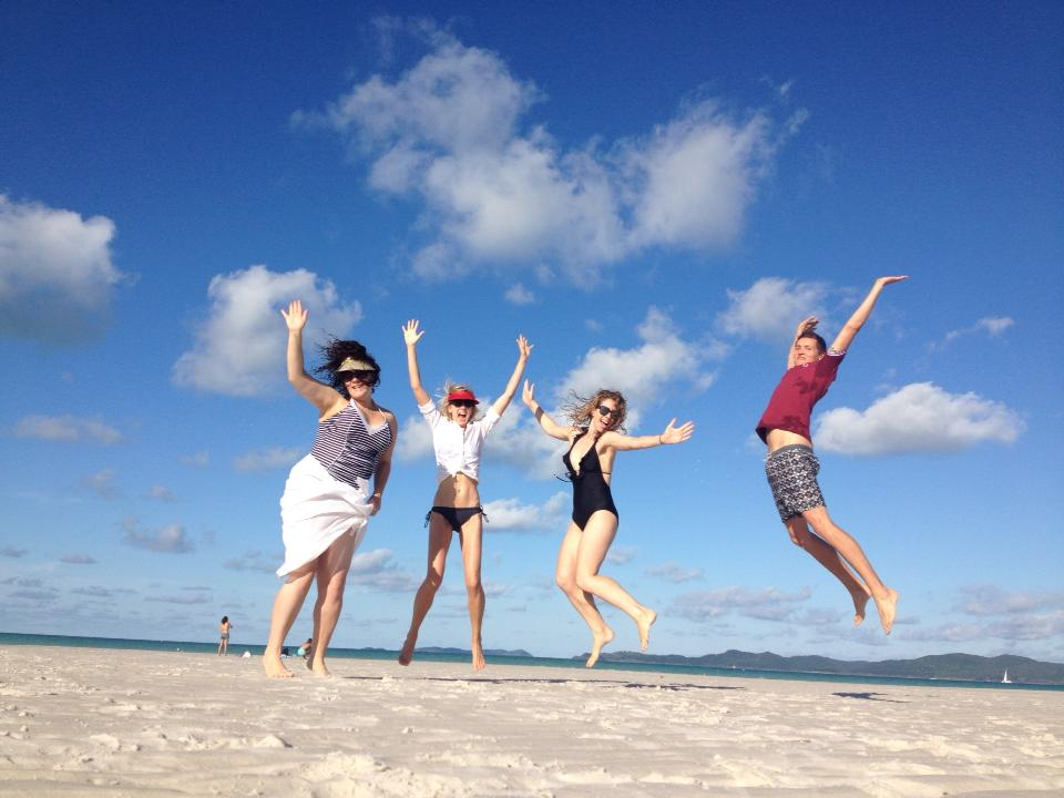 Whitehaven Beach with Smaggle, Hair Romance and Dad Down Under